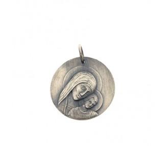 Medalla Virgen del Camino en plata de ley 25mm MC10