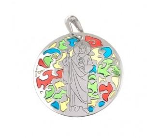 Medalla San Judas Tadeo en plata de ley 35mm MJT003EP
