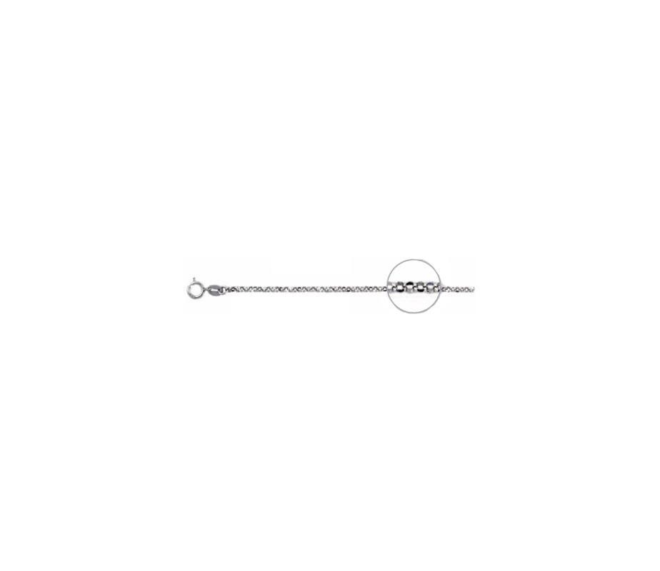 Rolo 0.40 diamantada rodiada.AG-925 94140.40R