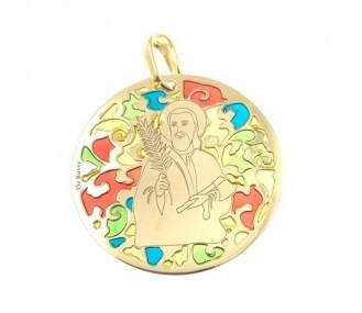 Medalla San Judas Tadeo en plata de ley Chapado 35mm MJTM003ED