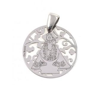 Medalla Virgen Fuensanta en Plata de Ley. 25mm MF005P