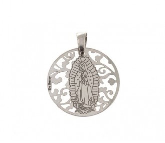 Medalla Virgen de Guadalupe (Mexico) en Plata de Ley. 25mm MGP005P