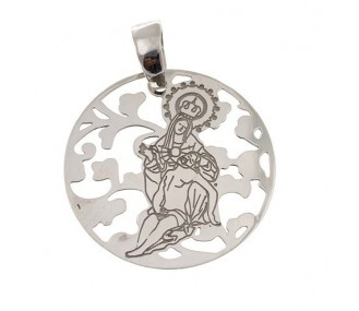 Medalla Virgen Caridad Plata Ley 925m 25 mm MCR005P