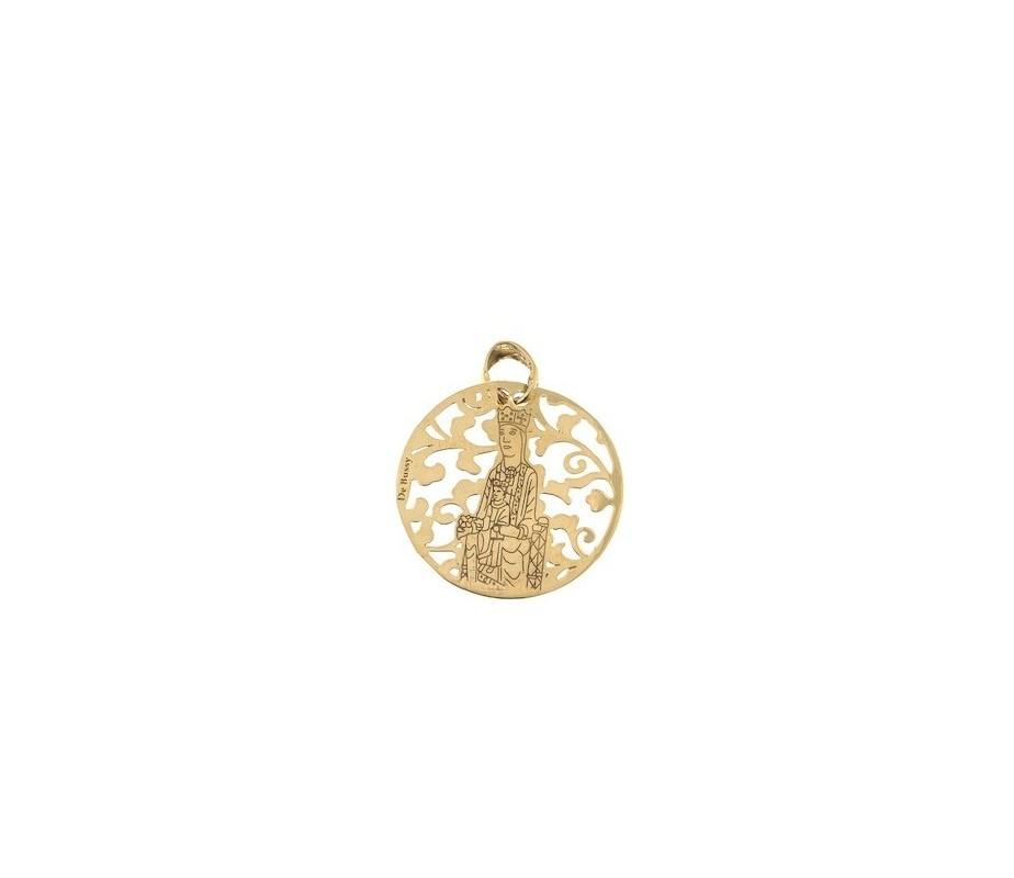 Virgen de Torreciudad en plata chapada en oro 25mm MTC005D