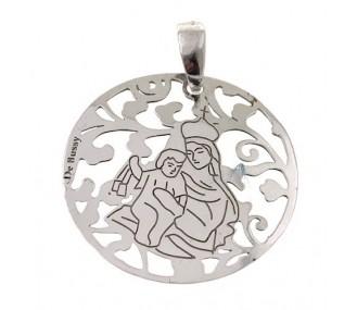 Medalla Virgen del Carmen plata de Ley 25mm MCM005P