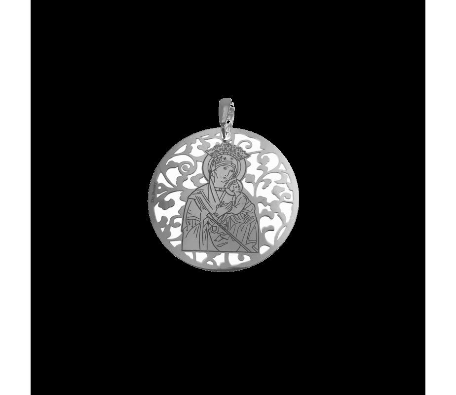 Medalla Virgen del Perpetuo Socorro plata de ley 35mm MSC003P