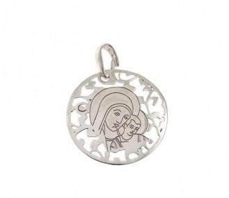 Medalla Virgen del Camino en plata de ley 25mm MC005P