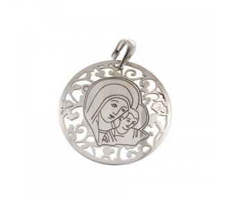 Medalla Virgen del Camino en plata de ley 35mm MC003P