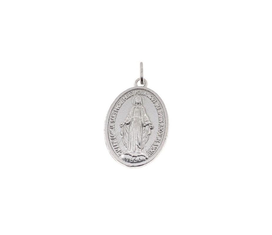 Medalla Virgen de la Milagrosa Plata de Ley 25 mm dbmm25