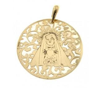 Medalla Virgen del Calvario en plata de ley 40mm MCV008ND