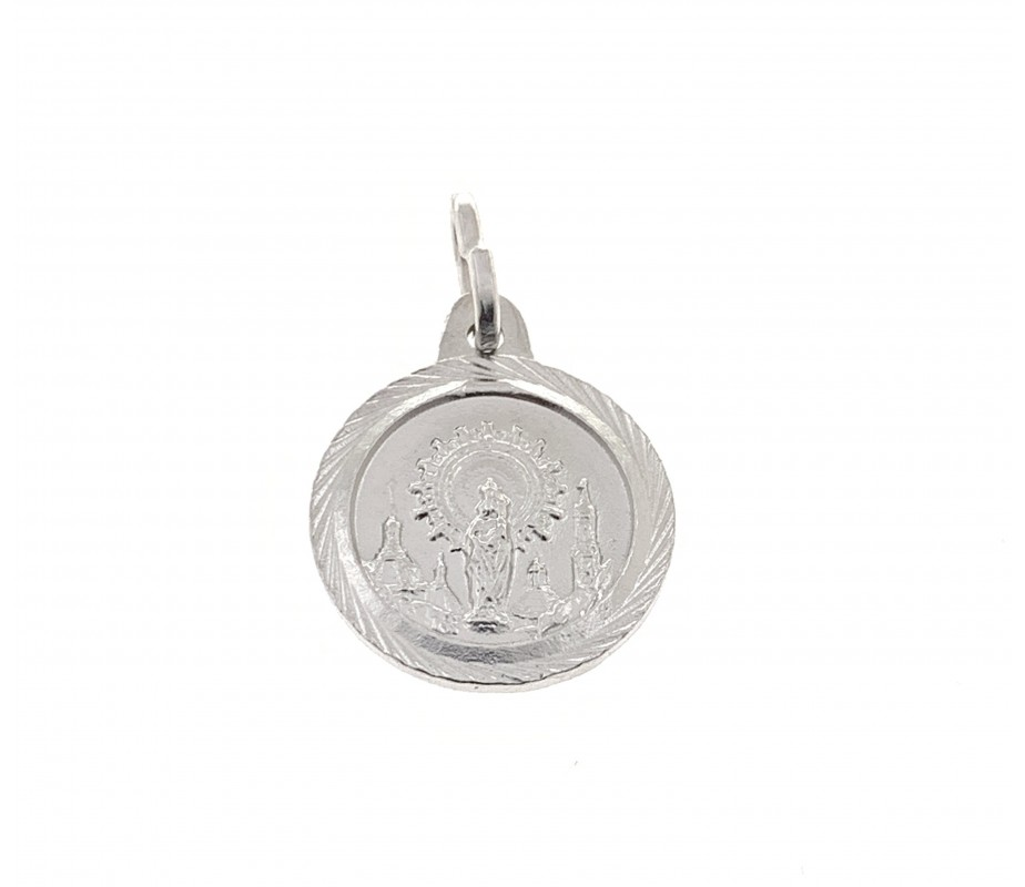 Medalla Virgen Pilar en Plata de Ley DBMP1