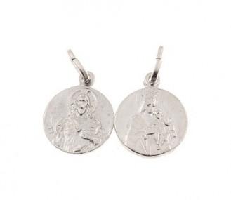 Medalla escapulario en plata de ley 13mm ME7