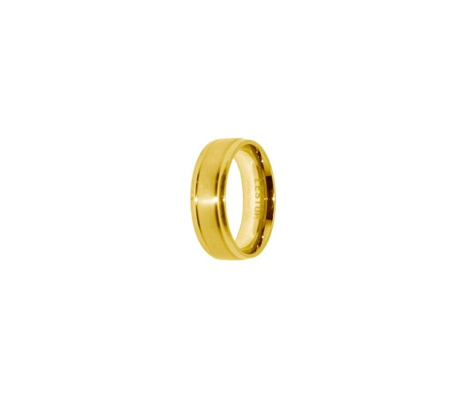 ANILLO ACERO 316 L, IP GOLD R10110/GOL.15
