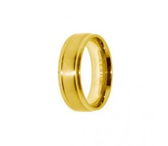 ANILLO ACERO 316 L, IP GOLD R10110/GOL.25
