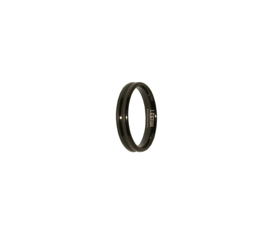 ANILLO ACERO 316 L, IP NEGRO R10179/NEG.19