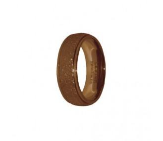 ANILLO ACERO 316 L, DIAMANTADO CAFE R15184/CDO.09