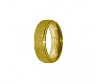 ANILLO ACERO 316 L, DIAMANTADO GOLD R15184/GDO.13