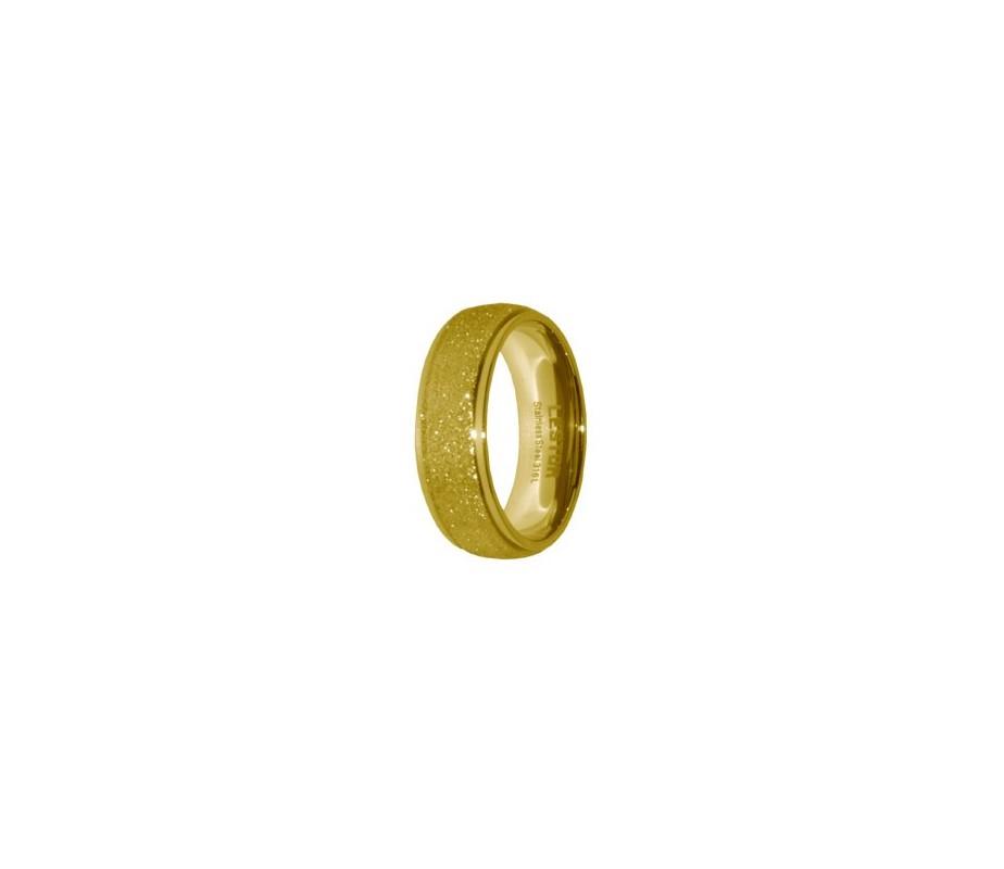 ANILLO ACERO 316 L, DIAMANTADO GOLD R15184/GDO.17